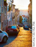 Купить «Lisbon street, Portugal», фото № 33152756, снято 20 февраля 2020 г. (c) PantherMedia / Фотобанк Лори