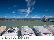 harbor, Lake Garda. Стоковое фото, фотограф Volodymyr Melnyk / PantherMedia / Фотобанк Лори