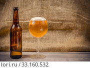 Купить «Beer in a glass», фото № 33160532, снято 25 февраля 2020 г. (c) PantherMedia / Фотобанк Лори