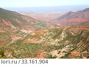 the    dades valley in atlas  africa ground  and red. Стоковое фото, фотограф luca mason / PantherMedia / Фотобанк Лори