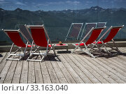 Loungers at the Adler Lounge,Hohe Tauern,Matrei,Kals. Стоковое фото, фотограф Günter Lenz / PantherMedia / Фотобанк Лори