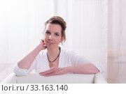 Portrait attractive woman with backlight. Стоковое фото, фотограф Jürgen Hüls / PantherMedia / Фотобанк Лори
