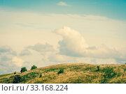 Купить «Countryside landscape with plains of grass», фото № 33168224, снято 31 мая 2020 г. (c) PantherMedia / Фотобанк Лори