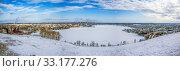 Купить «Вид на Нижний Тагил с Лысой (Лисьей) горы. Свердловская область», фото № 33177276, снято 12 февраля 2020 г. (c) Сергей Афанасьев / Фотобанк Лори