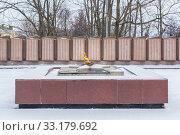 Купить «Eternal flame on the background of lists of soldiers in Balakhna in the Nizhny Novgorod region», фото № 33179692, снято 5 января 2020 г. (c) Дмитрий Тищенко / Фотобанк Лори
