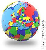 Купить «Europe on the globe», фото № 33182616, снято 25 мая 2020 г. (c) PantherMedia / Фотобанк Лори