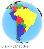 Купить «South America on Earth», фото № 33183348, снято 25 мая 2020 г. (c) PantherMedia / Фотобанк Лори