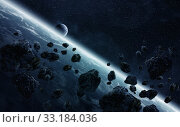 Купить «Meteorite impact on planet Earth in space», фото № 33184036, снято 3 июня 2020 г. (c) PantherMedia / Фотобанк Лори