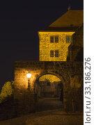 historic quedlinburg (sachsen-anhalt) at night. Стоковое фото, фотограф Harald Biebel / PantherMedia / Фотобанк Лори