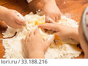 Купить «Children bake biscuits», фото № 33188216, снято 5 июля 2020 г. (c) PantherMedia / Фотобанк Лори