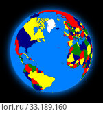 Northern hemisphere on planet Earth. Стоковое фото, фотограф Tomas Griger / PantherMedia / Фотобанк Лори