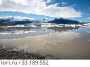 Купить «Fjallsarlon lagoon in Iceland», фото № 33189552, снято 24 февраля 2020 г. (c) PantherMedia / Фотобанк Лори