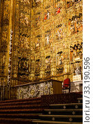 Купить «Main Altar in Seville Cathedral», фото № 33190596, снято 27 мая 2020 г. (c) PantherMedia / Фотобанк Лори