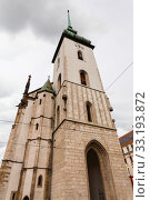 tower of Church of St Jacob (St James) in Brno. Стоковое фото, фотограф Valery Vvoennyy / PantherMedia / Фотобанк Лори