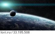 Купить «Sunrise over planet Earth in space», фото № 33195508, снято 10 июля 2020 г. (c) PantherMedia / Фотобанк Лори