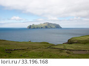 The island Mykines on the Faroe Islands. Стоковое фото, фотограф Andreas Altenburger / PantherMedia / Фотобанк Лори