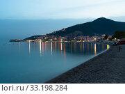 Купить «Budva,Montenegro - June 8. 2019. Budva - A popular resort on the Adriatic», фото № 33198284, снято 8 июня 2019 г. (c) Володина Ольга / Фотобанк Лори