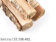 Купить «Stack of cut logs firewood», фото № 33198492, снято 6 июля 2020 г. (c) PantherMedia / Фотобанк Лори