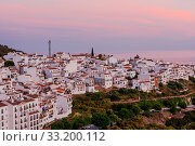 Купить «Cityscape of Frigiliana white villafe at sunset in Malaga province,Andalusia,Spain», фото № 33200112, снято 29 марта 2020 г. (c) easy Fotostock / Фотобанк Лори