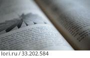 Купить «Ufa, Russia - FEB 15: man leafs through an old German physics textbook circa 1890 on February 14, 2015 in Ufa, Russia. Close up», видеоролик № 33202584, снято 14 февраля 2015 г. (c) Mikhail Erguine / Фотобанк Лори