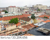 Купить «aerial view of Havana», фото № 33204656, снято 31 мая 2020 г. (c) PantherMedia / Фотобанк Лори