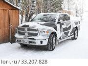 Dodge Ram 1500 (2020 год). Редакционное фото, фотограф Art Konovalov / Фотобанк Лори