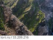 Купить «Coastline with Northern gannet (Morus bassanus) breeding colony in sea cliff. Hermaness, Unst, Shetland Islands, Scotland, UK, May», фото № 33209216, снято 9 апреля 2020 г. (c) Nature Picture Library / Фотобанк Лори
