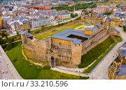 Ponferrada with Templar castle (2019 год). Стоковое фото, фотограф Яков Филимонов / Фотобанк Лори