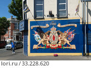 Купить «Great Britain, Belfast - Mural with reference to Ulster units of the British Army in World War I, Shankill Road, Protestant part of West Belfast», фото № 33228620, снято 14 июля 2019 г. (c) Caro Photoagency / Фотобанк Лори