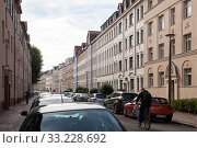 Old buildings in the Eythraer Strasse in Leipzig-Plagwitz (2018 год). Редакционное фото, агентство Caro Photoagency / Фотобанк Лори
