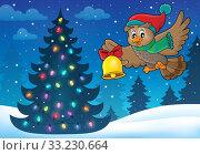 Christmas owl theme image 5. Стоковое фото, фотограф Klara Viskova / PantherMedia / Фотобанк Лори
