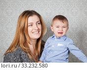 Купить «Baby boy and mommy», фото № 33232580, снято 28 мая 2020 г. (c) PantherMedia / Фотобанк Лори