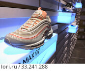 Nike Kicks Lounge store at Mira Place 1 mall, Hong Kong (2019 год). Редакционное фото, фотограф Александр Подшивалов / Фотобанк Лори
