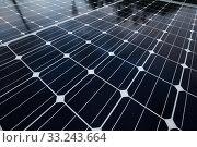 Купить «Background of Blue Solar Panels», фото № 33243664, снято 27 февраля 2020 г. (c) PantherMedia / Фотобанк Лори