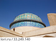 The architecture details of the dome of the Amir Chakhmaq Mosque at Yadz,  Iran. The mosque is located in a square with the same name. Стоковое фото, фотограф Maurizio Bersanelli / PantherMedia / Фотобанк Лори
