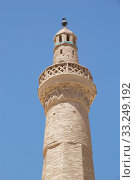 Architecture details of the minaret of the Jame Mosque at Nain,  Iran. Jame mosque is one of the oldest mosque in Iran. Стоковое фото, фотограф Maurizio Bersanelli / PantherMedia / Фотобанк Лори