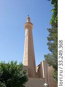 The minaret at the Jame Mosque at Nain,  Iran. Jame mosque is one of the oldest mosque in Iran. Стоковое фото, фотограф Maurizio Bersanelli / PantherMedia / Фотобанк Лори