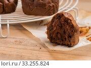 Купить «Baked chocolate muffins», фото № 33255824, снято 12 июля 2020 г. (c) PantherMedia / Фотобанк Лори