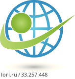 Купить «earth and man logo,earth globe,world globe», иллюстрация № 33257448 (c) PantherMedia / Фотобанк Лори
