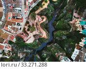 Aerial photo Ronda city, Malaga, Costa del Sol, Spain (2019 год). Стоковое фото, фотограф Alexander Tihonovs / Фотобанк Лори