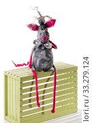 Купить «Крыса - мягкая игрушка из валяной шерсти на белом фоне», фото № 33279124, снято 29 февраля 2020 г. (c) V.Ivantsov / Фотобанк Лори