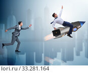 Competition concept with two businessmen. Стоковое фото, фотограф Elnur / Фотобанк Лори