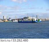 Купить «Пассажирский самоходный паром Nida идет по Куршскому заливу в Клайпедский порт. Литва», фото № 33282480, снято 14 марта 2012 г. (c) Ирина Борсученко / Фотобанк Лори