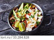 Купить «close-up of spicy hot Chicken Taco Soup», фото № 33284828, снято 3 января 2020 г. (c) Oksana Zh / Фотобанк Лори