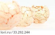 Купить «Three vases from clay, the handwork, isolated on a white background», фото № 33292244, снято 29 марта 2020 г. (c) age Fotostock / Фотобанк Лори