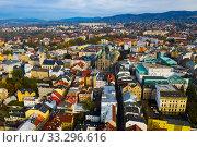 Купить «Aerial view of Liberec, Czech Republic», фото № 33296616, снято 19 октября 2019 г. (c) Яков Филимонов / Фотобанк Лори
