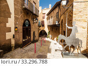 Купить «The Spanish village in Barcelona is an open-air Museum. Catalonia, Spain», фото № 33296788, снято 6 апреля 2018 г. (c) Наталья Волкова / Фотобанк Лори