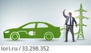 Купить «Electric car and green energy concept», фото № 33298352, снято 9 июля 2020 г. (c) Elnur / Фотобанк Лори