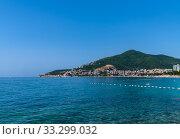 Купить «Budva,Montenegro - June 12. 2019. Budva - A popular resort on the Adriatic», фото № 33299032, снято 12 июня 2019 г. (c) Володина Ольга / Фотобанк Лори
