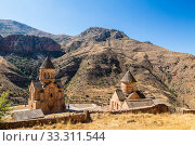 The medieval monastery of Noravank in Armenia. Was founded in 1205. Top view. (2018 год). Стоковое фото, фотограф Наталья Волкова / Фотобанк Лори